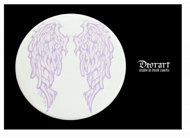 Deorart,ディオラート,缶バッジ,羽,天使,悪魔,ペア,デビル,エンジェル,紋章,魔法陣,ゴシック,ファッション,服,通販
