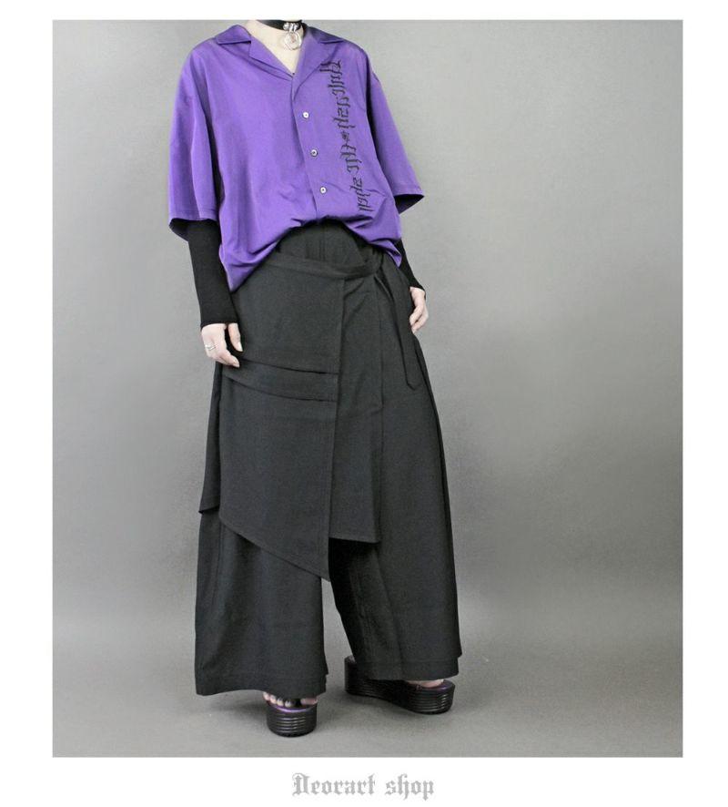 Deorart,ディオラート,ゴシック,オカルト,目玉,ホラー,開襟シャツ,夏,半袖,ボーリングシャツ,オーバーサイズ,パンクロック,カッコイイ,かっこいい,モード,ゴス