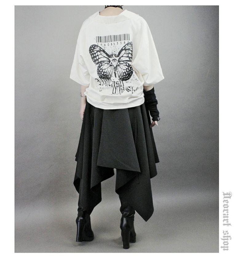 Deorart,ディオラート,ゴシック,オカルト,目玉,ホラー,蝶々,バタフライ,開襟シャツ,夏,半袖,ボーリングシャツ,オーバーサイズ,パンクロック,カッコイイ,かっこいい,モード,ゴス